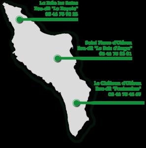 carte de localisation de déchetteries