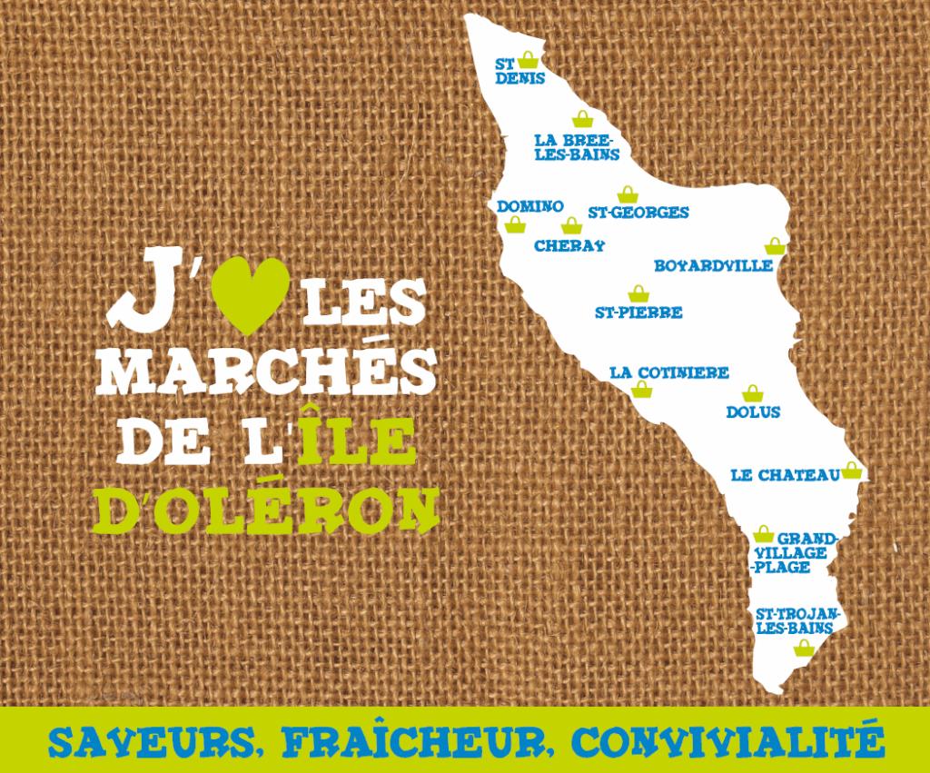 Visuel du sac cabas distribué sur les marchés oléronais en 2013 et 2014